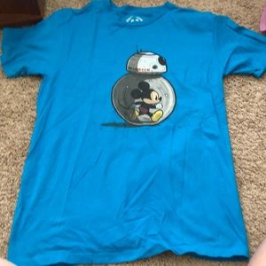 Blue Mickey Mouse BB8 Shirt